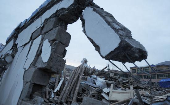 2010年4月玉树地震后的玉树扎西大同村。
