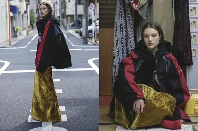 混血名模強勢演繹東瀛街頭時尚