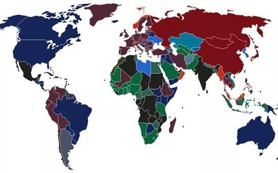 护照颜色分布