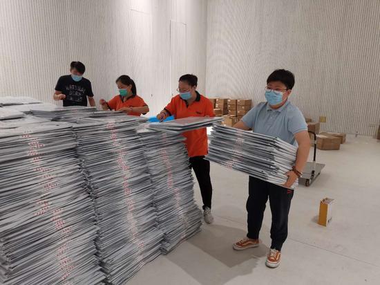 """北京邮政密码投递 为央美高考云复试加一把""""安全锁"""""""
