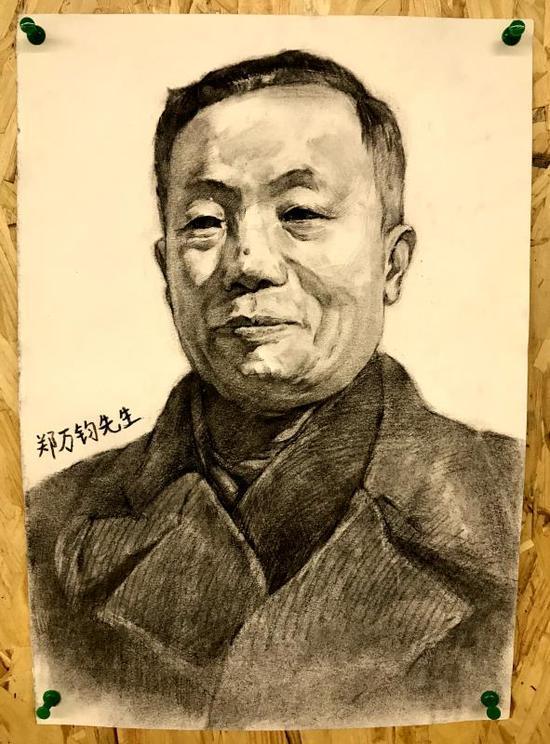 南林大学子手绘画像致敬林业开拓者