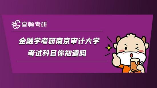 金融学考研南京审计大学考试科目你知道吗