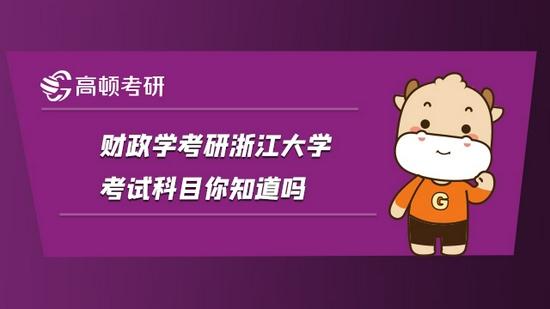 财政学考研浙江大学考试科目你知道吗