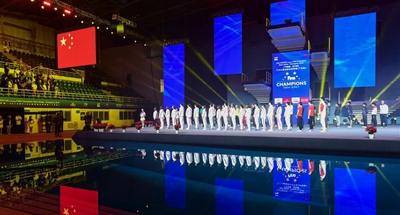 Opening ceremony of Guangzhou FINA Champions Swim Series held in China's Guangdong