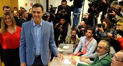 Socialist Party leads in Spanish election when 95.60 pct of votes counted