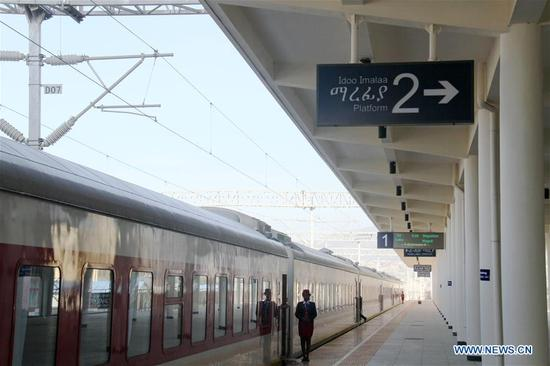Chinese-built railway links Ethiopia's Addis Ababa and