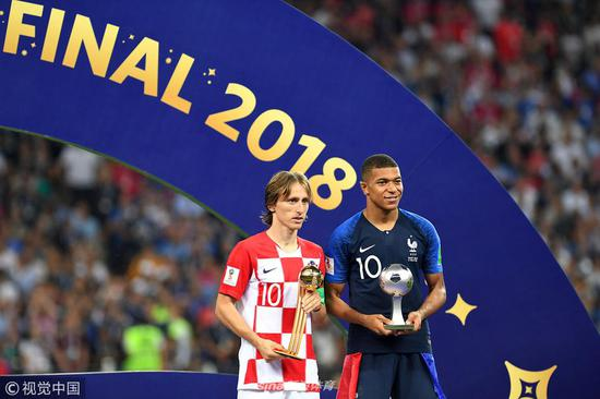 427228e97 2018 World Cup awards  Modric wins Golden Ball  Mbappe named best ...