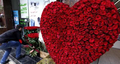 People celebrate Valentine's Day in Beirut, Lebanon