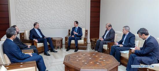 Syrian president underlines support to Iran against U S
