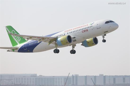 Second plane of C919 makes first test flight in Shanghai ...