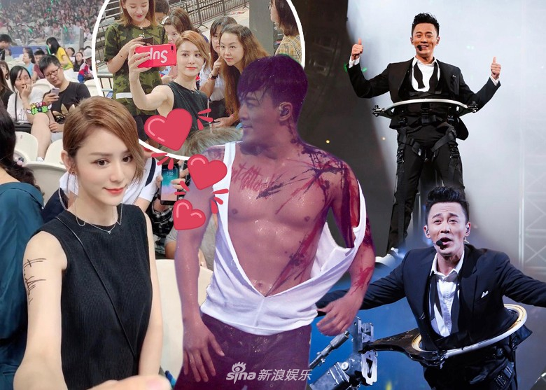 组图:女友张馨月现身林峯演唱会 大方与粉丝合影似宣誓主权