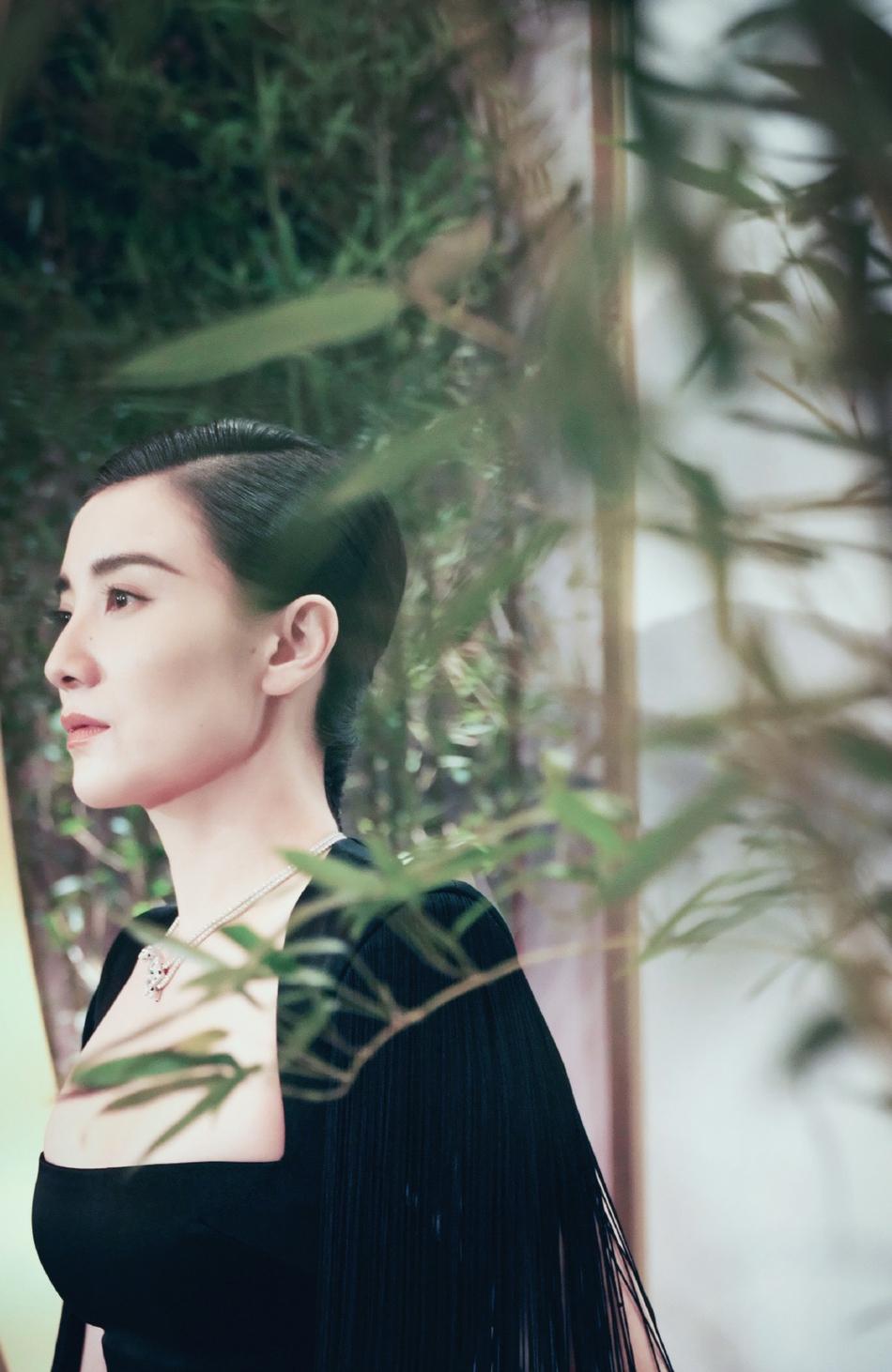 组图:宋佳黑裙写真优雅大气高级感十足 竹林下回眸似是诗画意人