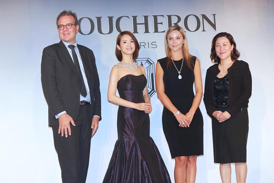 林依晨在台北出席法国品牌顶级珠宝记者会
