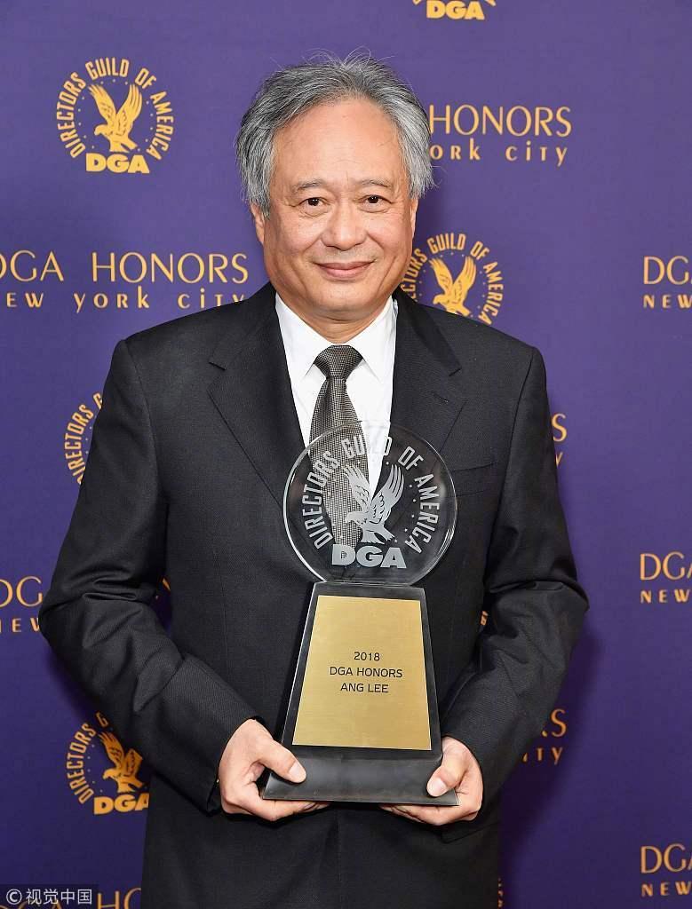 李安获美国导演协会终身成就奖 携妻子林惠嘉领奖显亲密