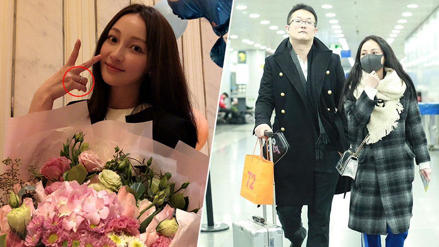 姚笛庆37岁生日收大捧鲜花 去年被求婚手上戒指是婚戒?