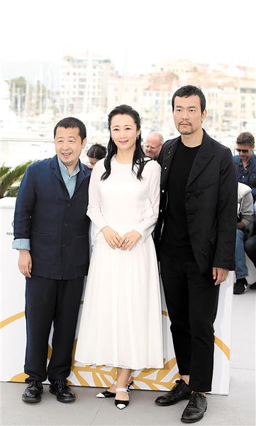 贾樟柯、赵涛、廖凡亮相戛纳
