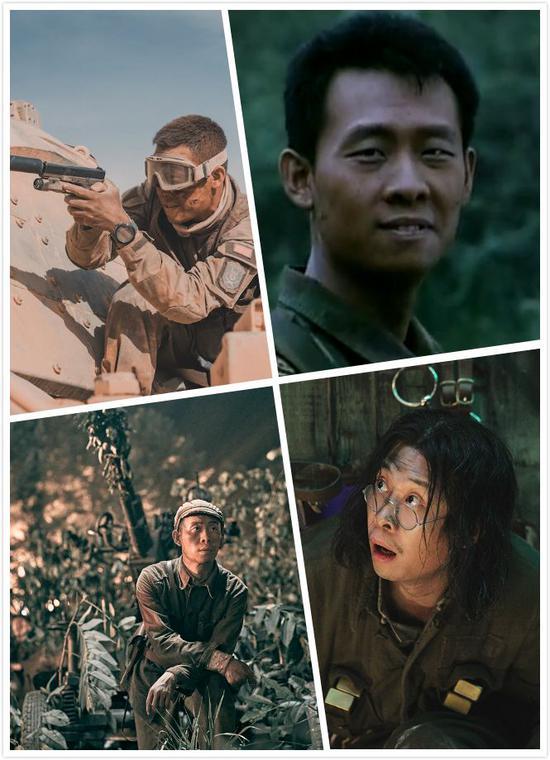 张译参演《红海行动》《士兵突击》《金刚川》《八佰》剧照。
