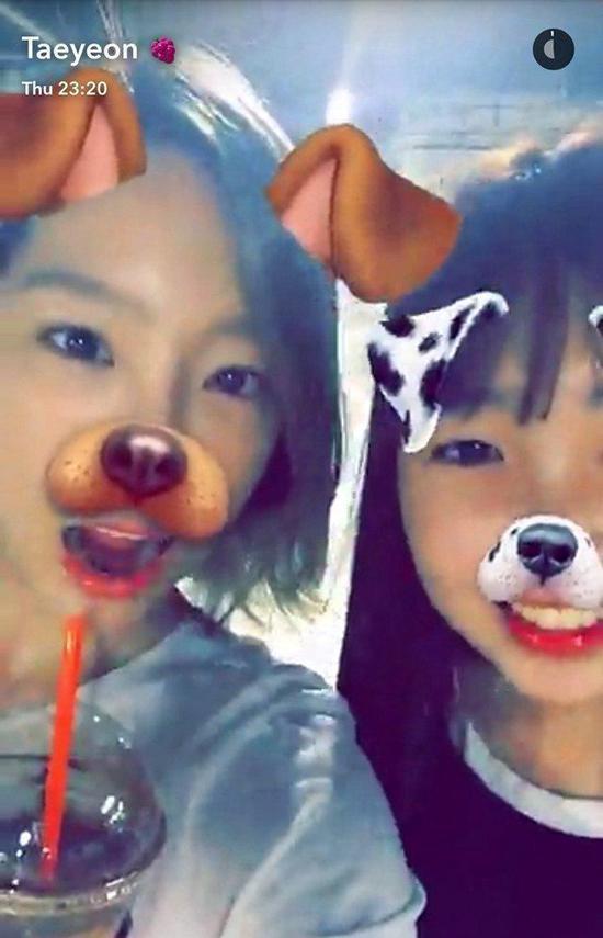 泰妍与妹妹夏妍