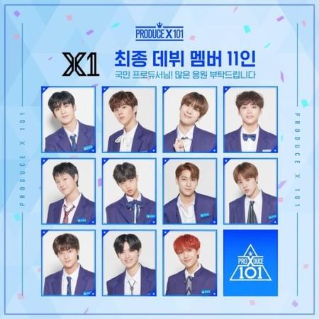 《PRODUCE X 101》选出11人限定男团「X1」
