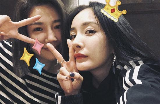 杨幂和闺蜜猫姐
