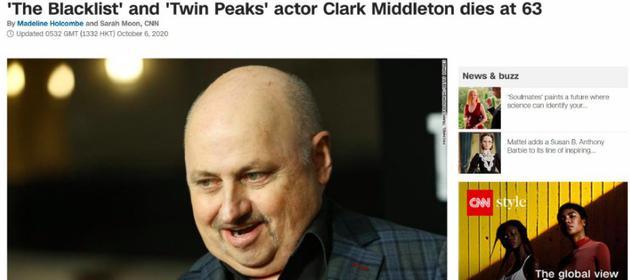 克拉克·米德尔顿逝世享年63岁 曾出演雪国列车