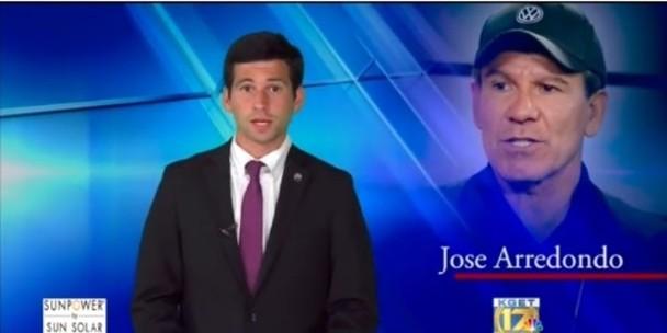 外国传媒报道Kim Samuel的父亲Jose Arredondo遭杀害的消息。