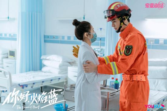 《你好,火焰蓝》剧中张慧雯和龚俊的角色互相扶持