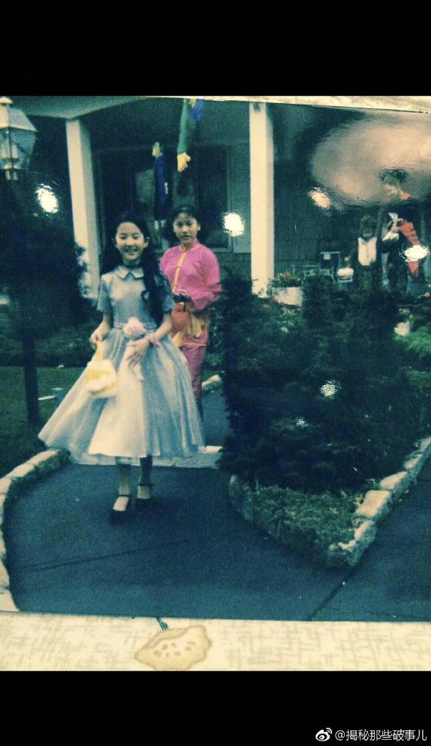 刘亦菲童年过万圣节