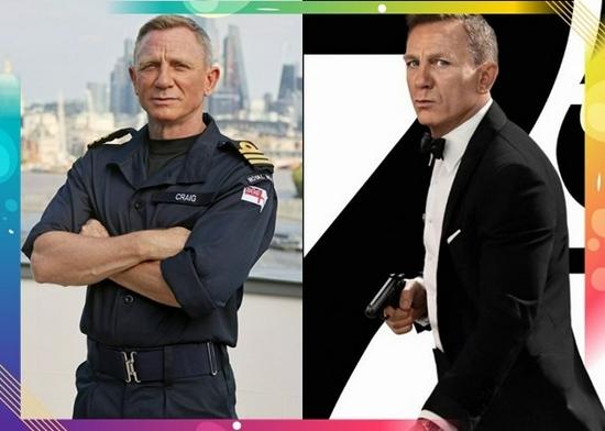 007丹尼尔获海军表扬,即场穿起海军服见传媒。