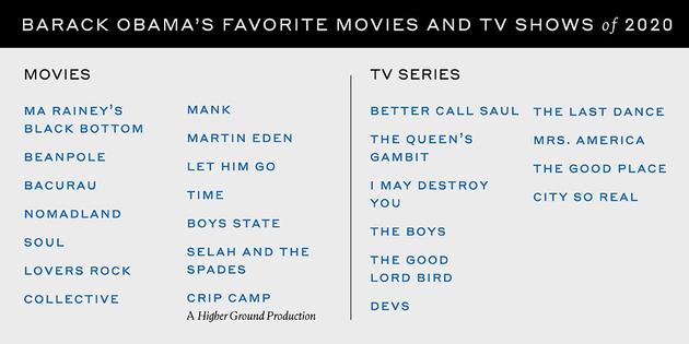 """奥巴马的""""年度最爱的影视作品""""清单"""