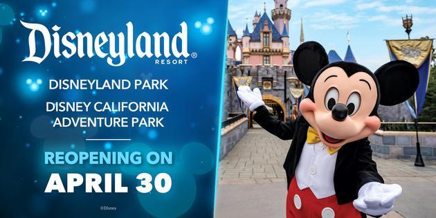 加州迪士尼乐园4月30日重开 400余天闭园终结束