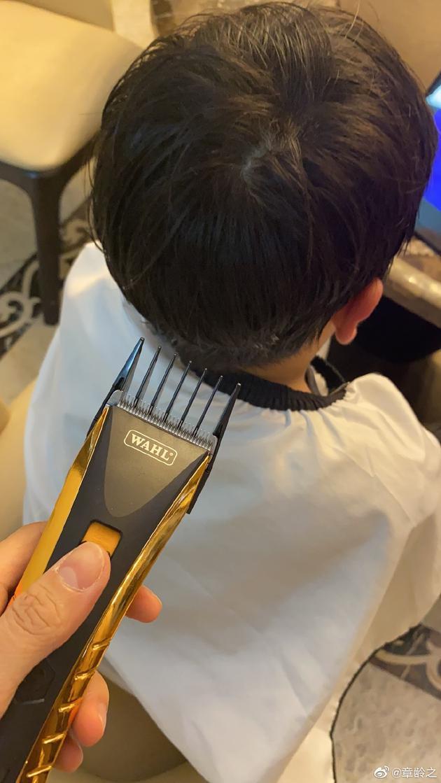 章龄之为儿子剃头