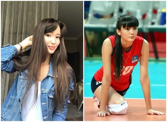 莎宾娜近日晒照(左)与比赛时样貌(右)不同大。