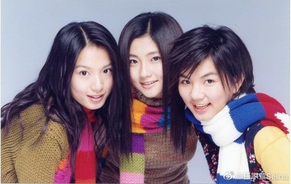 Selina发SHE三人19岁旧照