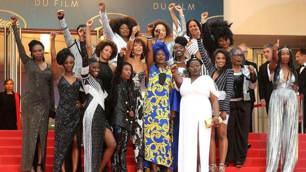16位法国黑人女演员踏上戛纳红毯