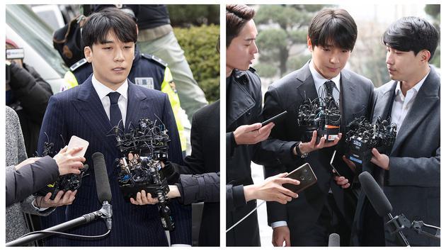 胜利与崔钟训接受警方调查。