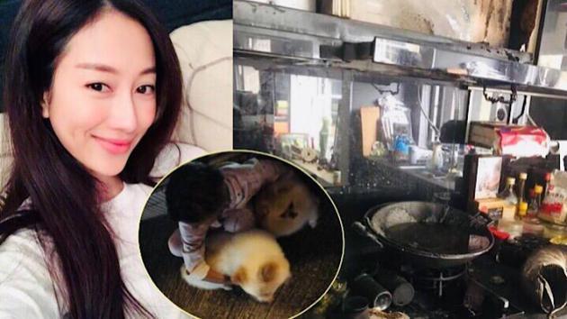王秀琳家中遇火灾厨房烧光