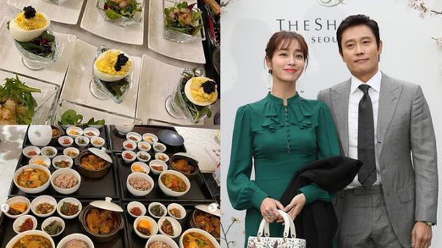 李秉宪妻子李敏贞分享美食照片