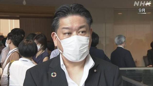 日本前国土交通相羽田雄一郎(NHK)