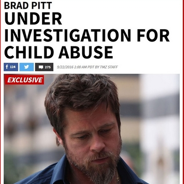 TMZ称皮特已在被调查