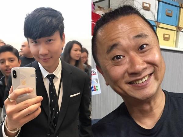 邰智源(右)模仿林俊杰(左)。