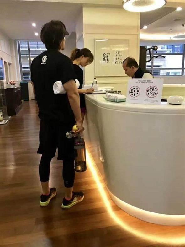 林志玲和言承旭11日被目击在吉隆坡一起上健身房