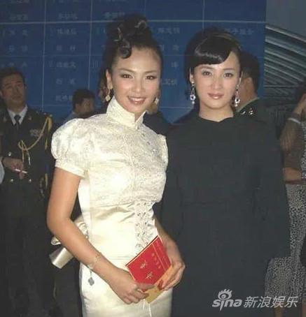 刘涛十年前与蒋勤勤同框合照