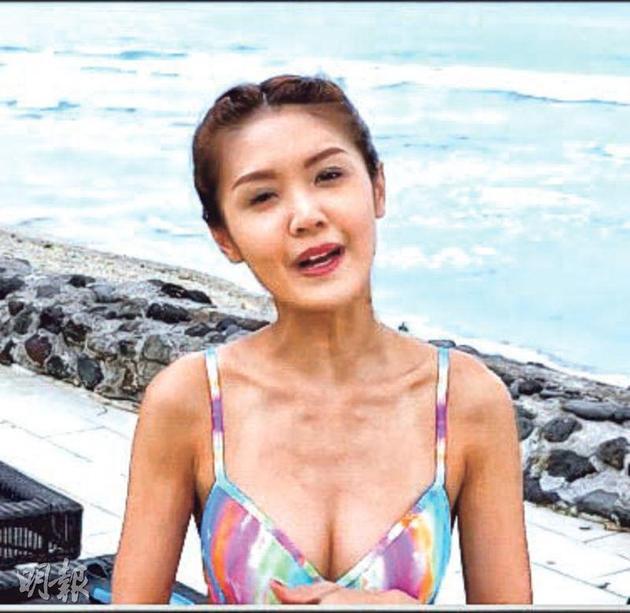陈庭欣在《3日2夜》也有穿泳装出镜。