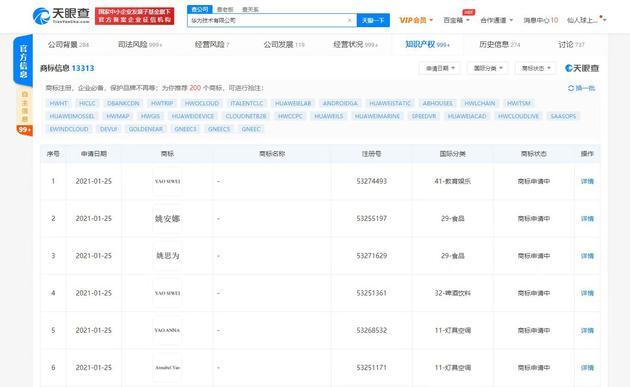 天眼查App官方信息