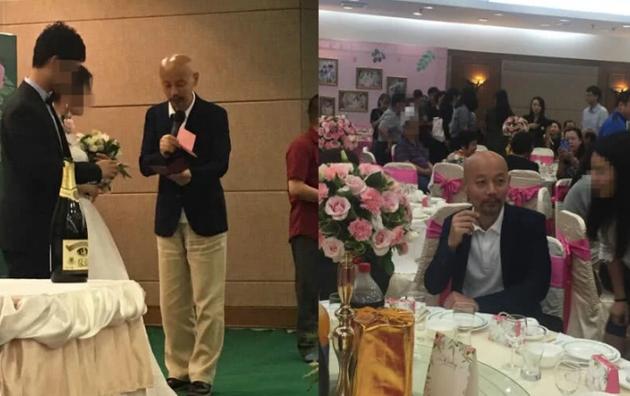 葛优出席亲戚婚礼担任证婚人