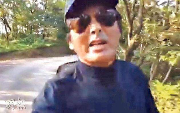 周润发一边跑步一边拍视频为方力申打气