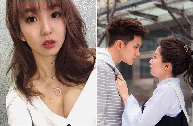 郭书瑶和男友因电视剧结缘。