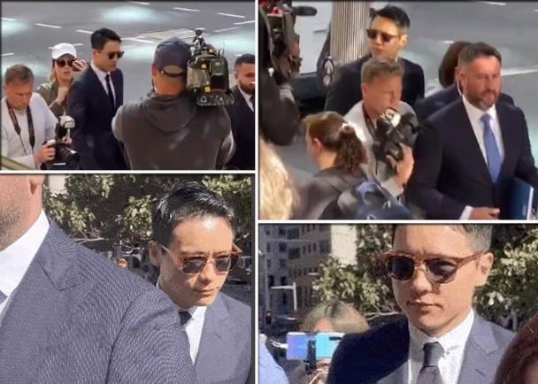 高云翔由律师陪同现身法庭。