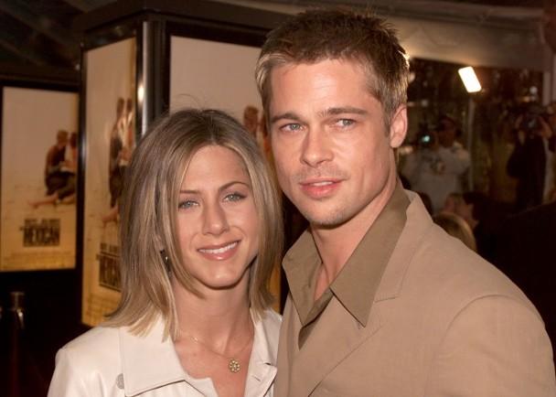布拉德·皮特(Brad Pitt)与女星詹妮弗·安妮斯顿(Jennifer Aniston)